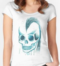 Punk Skull Women's Fitted Scoop T-Shirt