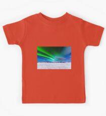Intense display of Northern Lights Aurora borealis Kids Tee