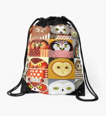 North American Owls Drawstring Bag
