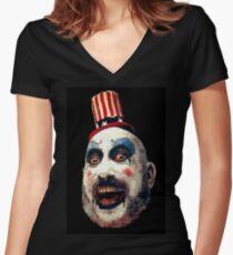 Captain Spaulding Women's Fitted V-Neck T-Shirt