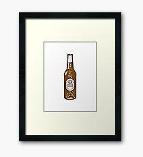 Beer drinking beer bottle Framed Print