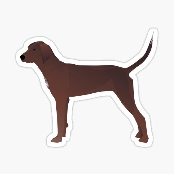 Redbone Coonhound Basic Breed Silhouette Illustration Sticker