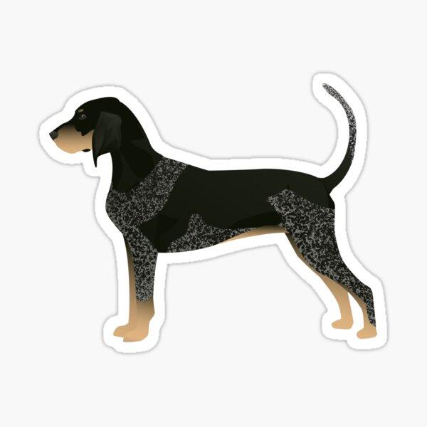 Bluetick Coonhound Basic Breed Silhouette Illustration Sticker
