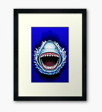 Shark Jaws Attack Framed Print