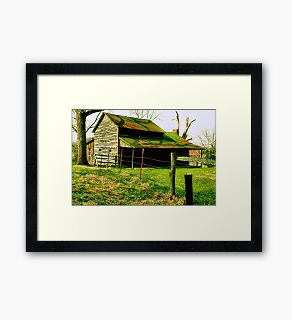"""""""Ol' Mossy Roof""""... prints and products Framed Print"""