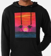 Retro sunset 2 Lightweight Hoodie