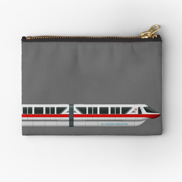Monorail Red Zipper Pouch