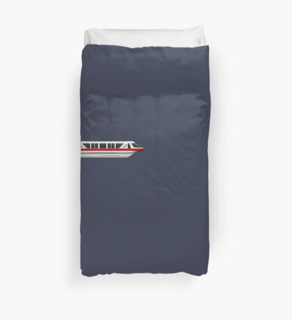 Monorail Red Duvet Cover