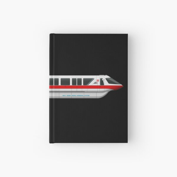 Monorail Red Hardcover Journal