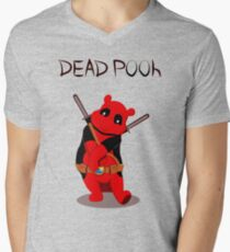 Funny Deadpooh Men's V-Neck T-Shirt