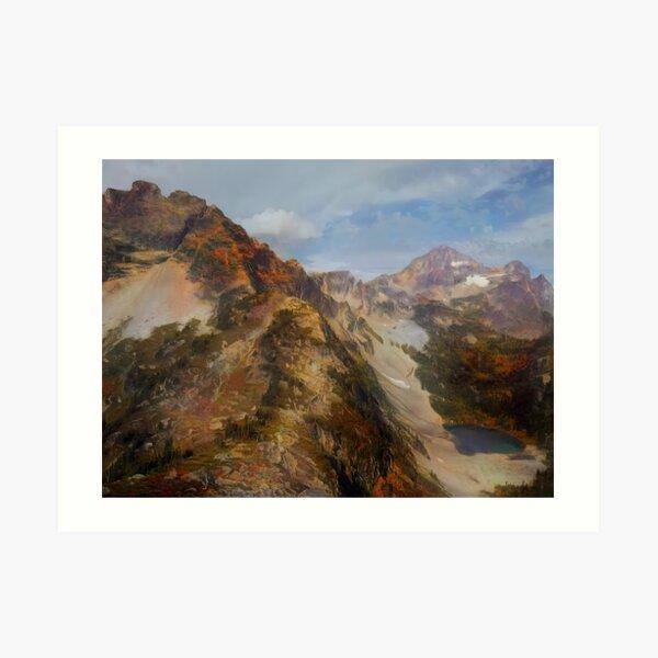 Black Peak Art Print
