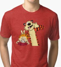 Calvin And Hobbes Fun Art Tri-blend T-Shirt