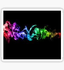 Colorful Abstract Smoke - A Rainbow in the Dark Sticker