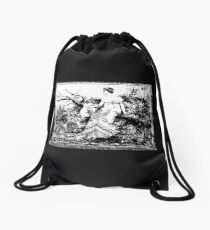 Waiting! Drawstring Bag