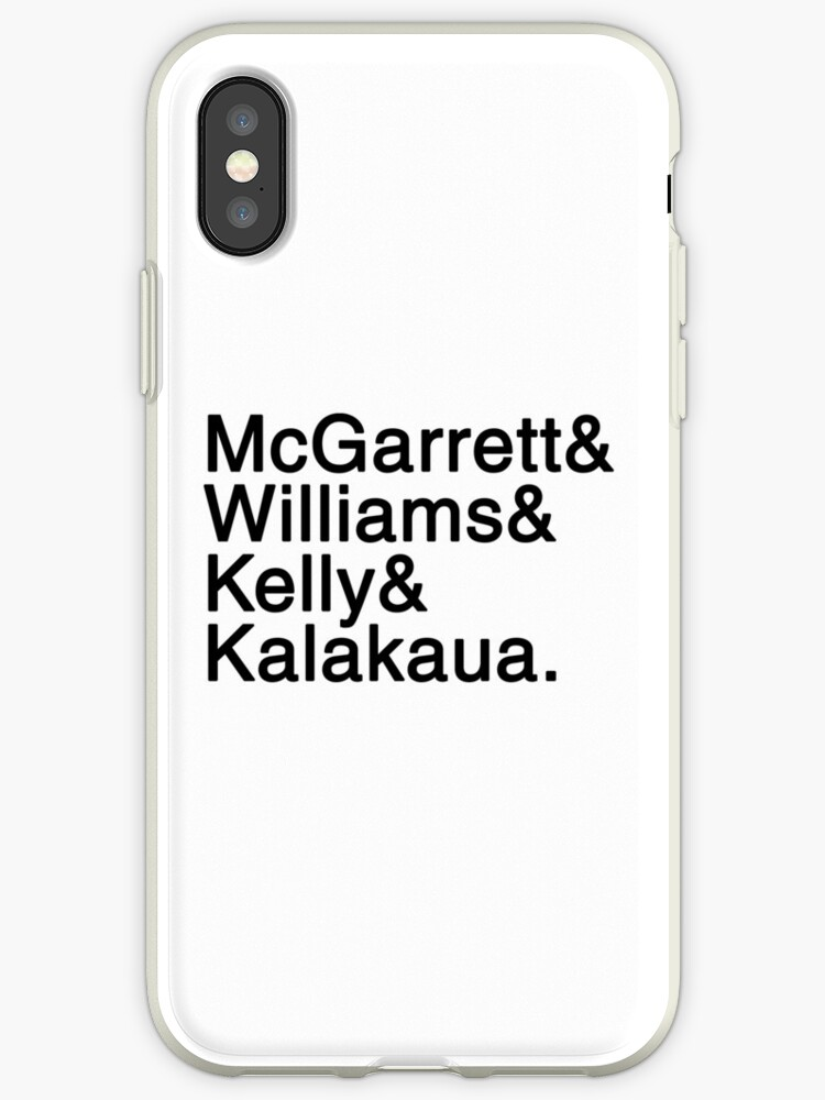 'Five-0 Team Names' iPhone Case by foxholefantasy