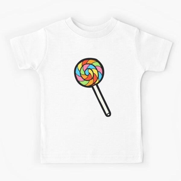 Rainbow Lollipop Pattern Kids T-Shirt