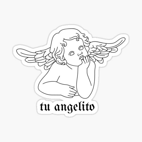 tu angelito pegatina Pegatina