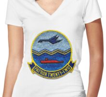 VP-22 - Blue Geese Women's Fitted V-Neck T-Shirt