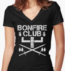 Bonfire Club Women's Fitted V-Neck T-Shirt
