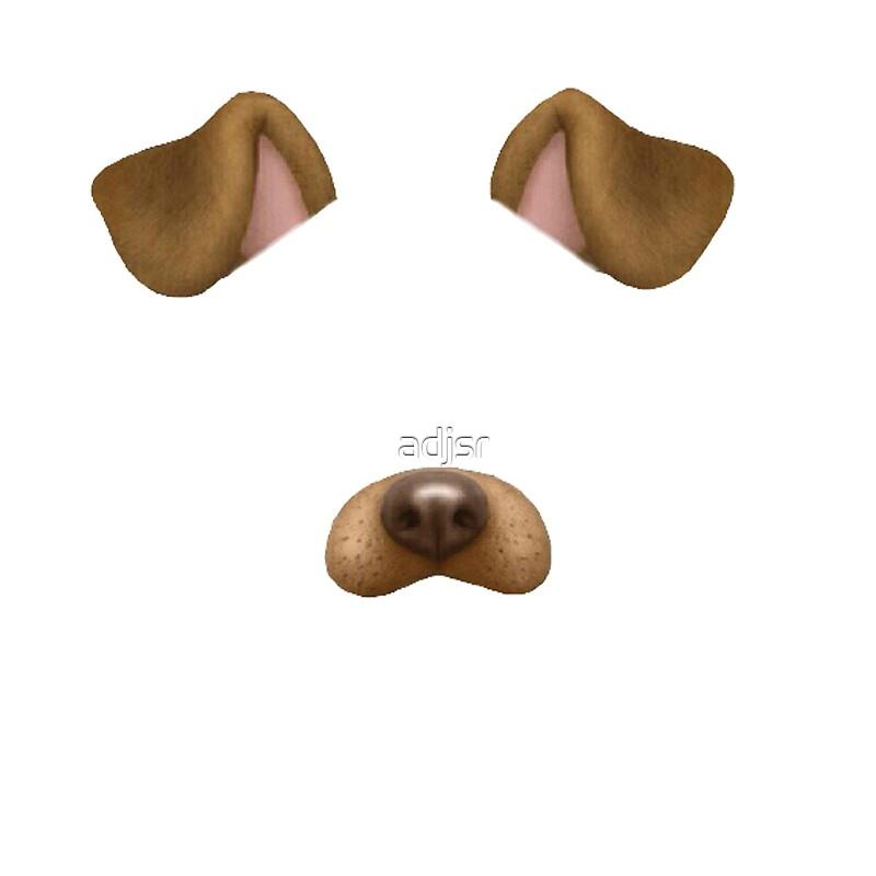 Snapchat dog wall arts redbubble for Miroir tumblr