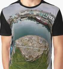 Hurry Head Harbour, Carnlough, County Antrim - Sky out Graphic T-Shirt