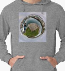 Hurry Head Harbour, Carnlough, County Antrim - Sky out Lightweight Hoodie