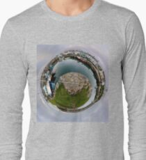 Hurry Head Harbour, Carnlough, County Antrim - Sky out Long Sleeve T-Shirt