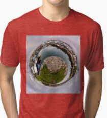 Hurry Head Harbour, Carnlough, County Antrim - Sky out Tri-blend T-Shirt