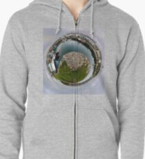 Hurry Head Harbour, Carnlough, County Antrim - Sky out Zipped Hoodie
