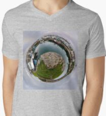 Hurry Head Harbour, Carnlough, County Antrim - Sky out Men's V-Neck T-Shirt