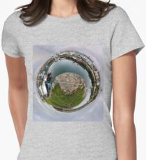 Hurry Head Harbour, Carnlough, County Antrim - Sky out Women's Fitted T-Shirt