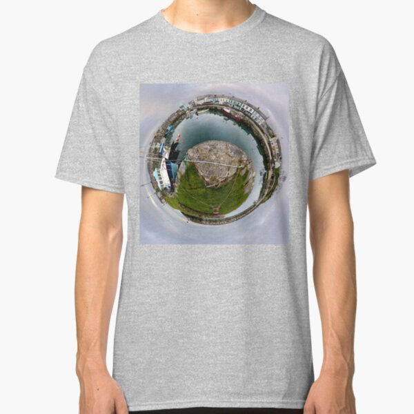 Hurry Head Harbour, Carnlough, County Antrim - Sky out Classic T-Shirt