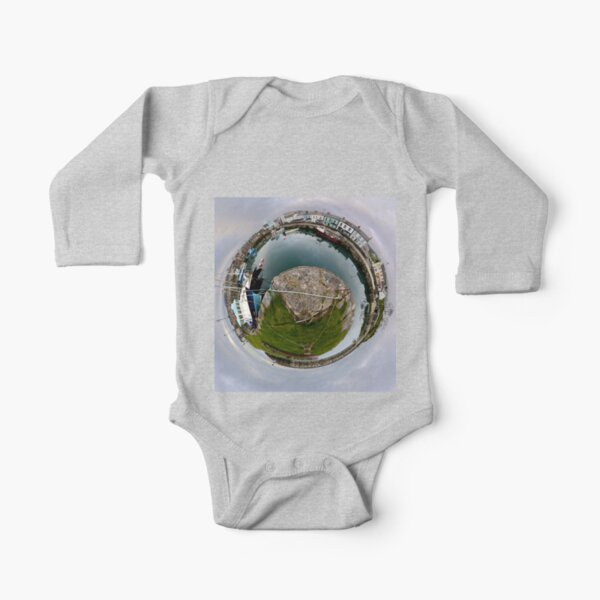 Hurry Head Harbour, Carnlough, County Antrim - Sky out Long Sleeve Baby One-Piece