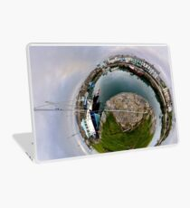 Hurry Head Harbour, Carnlough, County Antrim - Sky out Laptop Skin