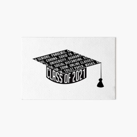 Class of 2021 Graduation Cap Typography Art Board Print