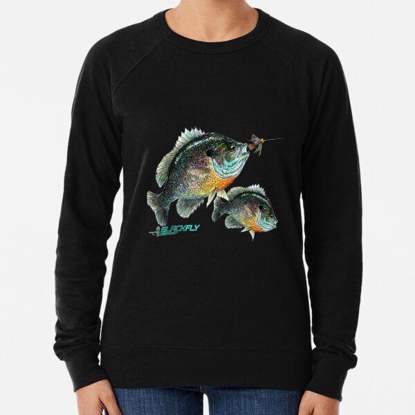 Black Fly Bluegill Fishing Panfish Jig Fly Fishing Lightweight Sweatshirt