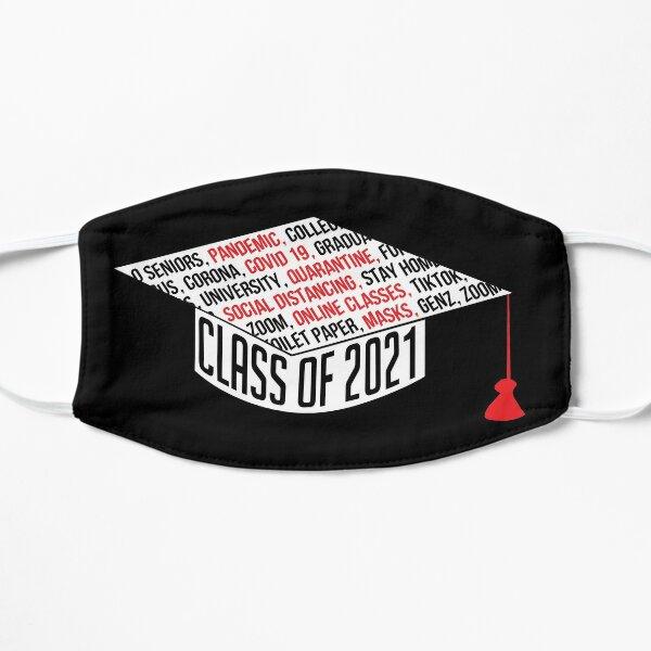 Class of 2021 Graduation Cap Typography Black Flat Mask