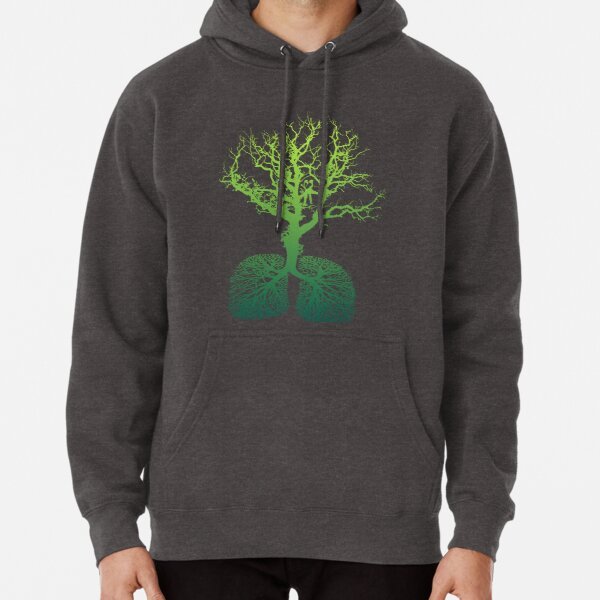 Green lung Pullover Hoodie