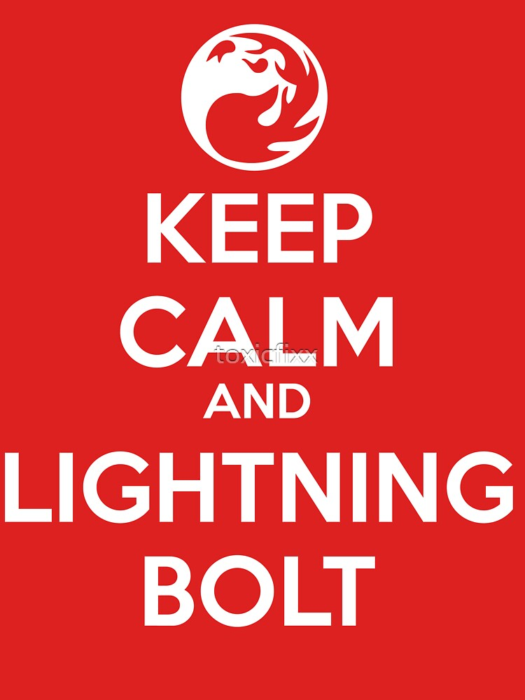 Keep Calm and Lightning Bolt by toxicfixx