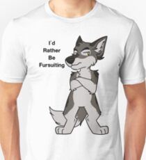 I'd Rather Be Fursuiting V2 Wolf  Unisex T-Shirt
