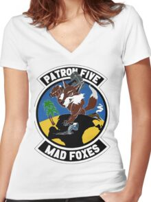 VP-5 Mad Foxes Women's Fitted V-Neck T-Shirt