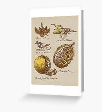 Steampunk  Fruit Greeting Card