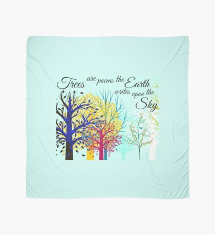 Poetry of Trees. Scarf