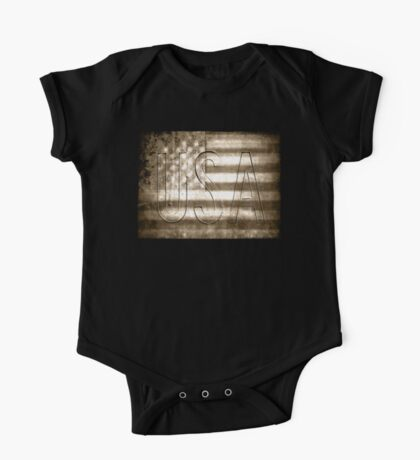 USA in Sepia Kids Clothes
