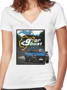 Nurburgring <9' Or Bust Women's Fitted V-Neck T-Shirt
