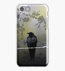 Raven on a Wire iPhone Case/Skin