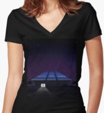 Horizons from EPCOT Center Women's Fitted V-Neck T-Shirt