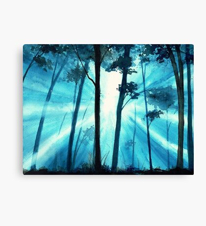 Forest sunrays Canvas Print