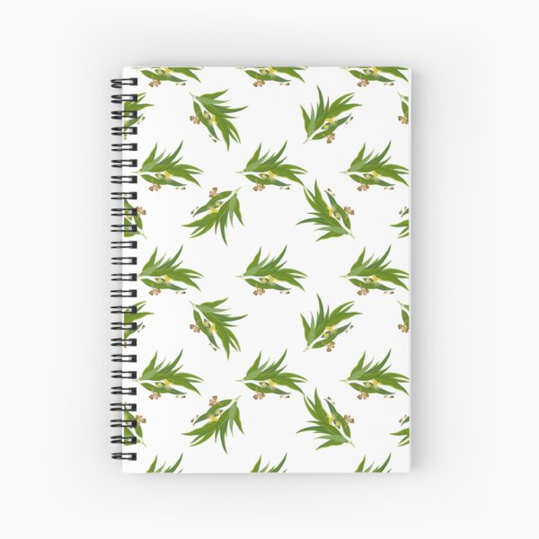 Eucalyptus pattern Spiral Notebook