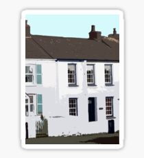 Traditional Fishermen's Cottages, Porthleven , Cornwall Sticker
